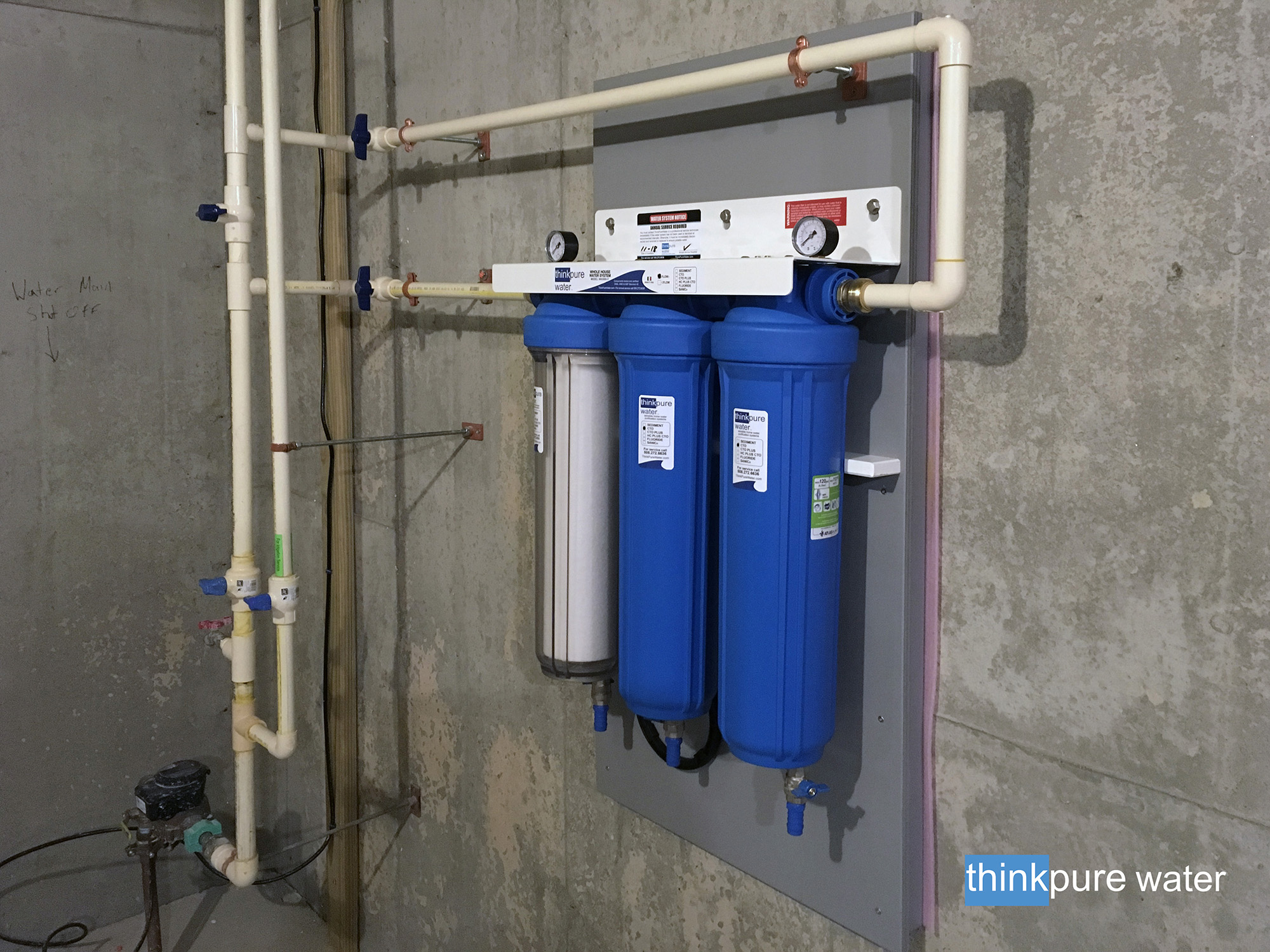 Recent Installations Whole House Water Purification Filter